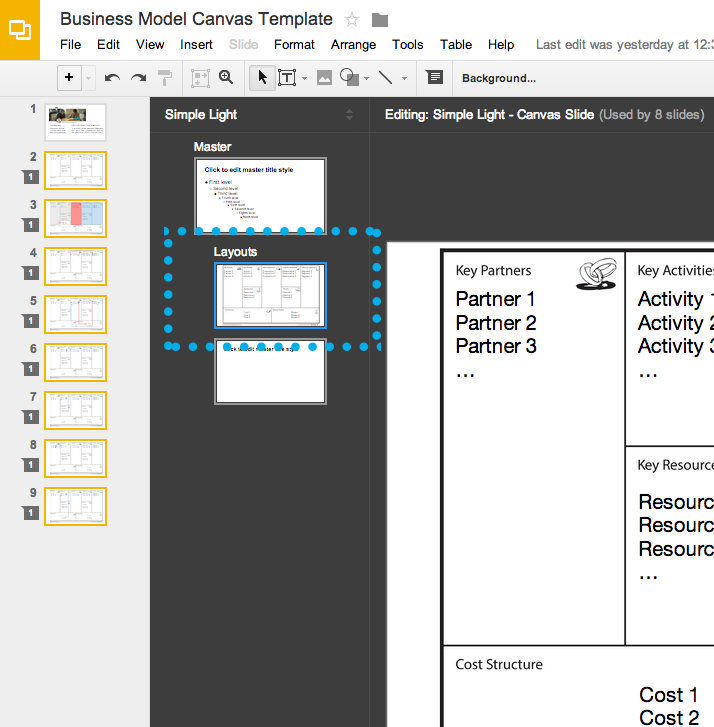 The 20 minute business plan business model canvas made easy screen shot editing master fbccfo Choice Image